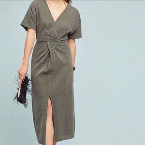 Anthropologie Ranna Gill Twisted Shine midi Dress